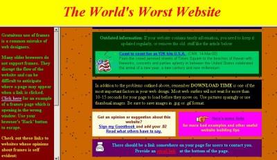 Worlds worst Website