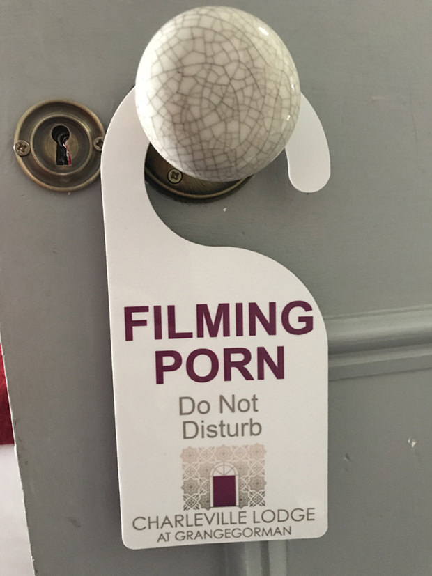 filming porn do not disturb